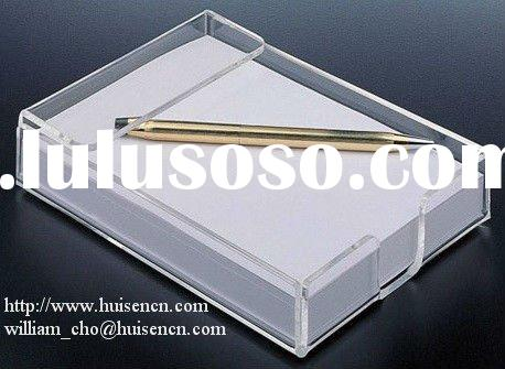 Acrylic notepad holder, notepad holder,memo pad,note holder,memo cube,memo pad holder,notepad set,no