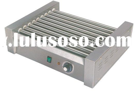 All stainless steel roller hot dog grill