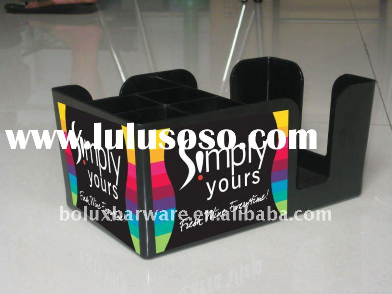Artwork Design Plastic Bar Caddy&Napkin holder