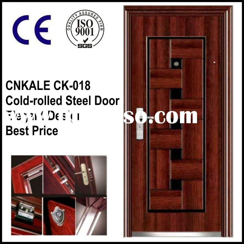 CK-018 Security Cold-rolled Steel Entrance Door