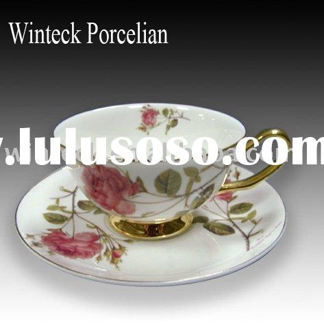 Ceramic espresso cup and saucer made in chaozhou
