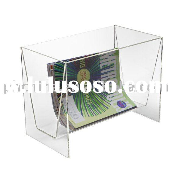 Clear Acrylic Floor Magazine Rack;Clear Acrylic Magazine Holder;Clear Acrylic Floor Magazine Shelf