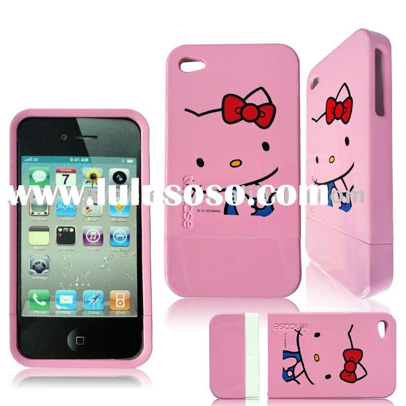 Combination Cute Hello Kitty Cell Phone Hard Case for iPhone 4G
