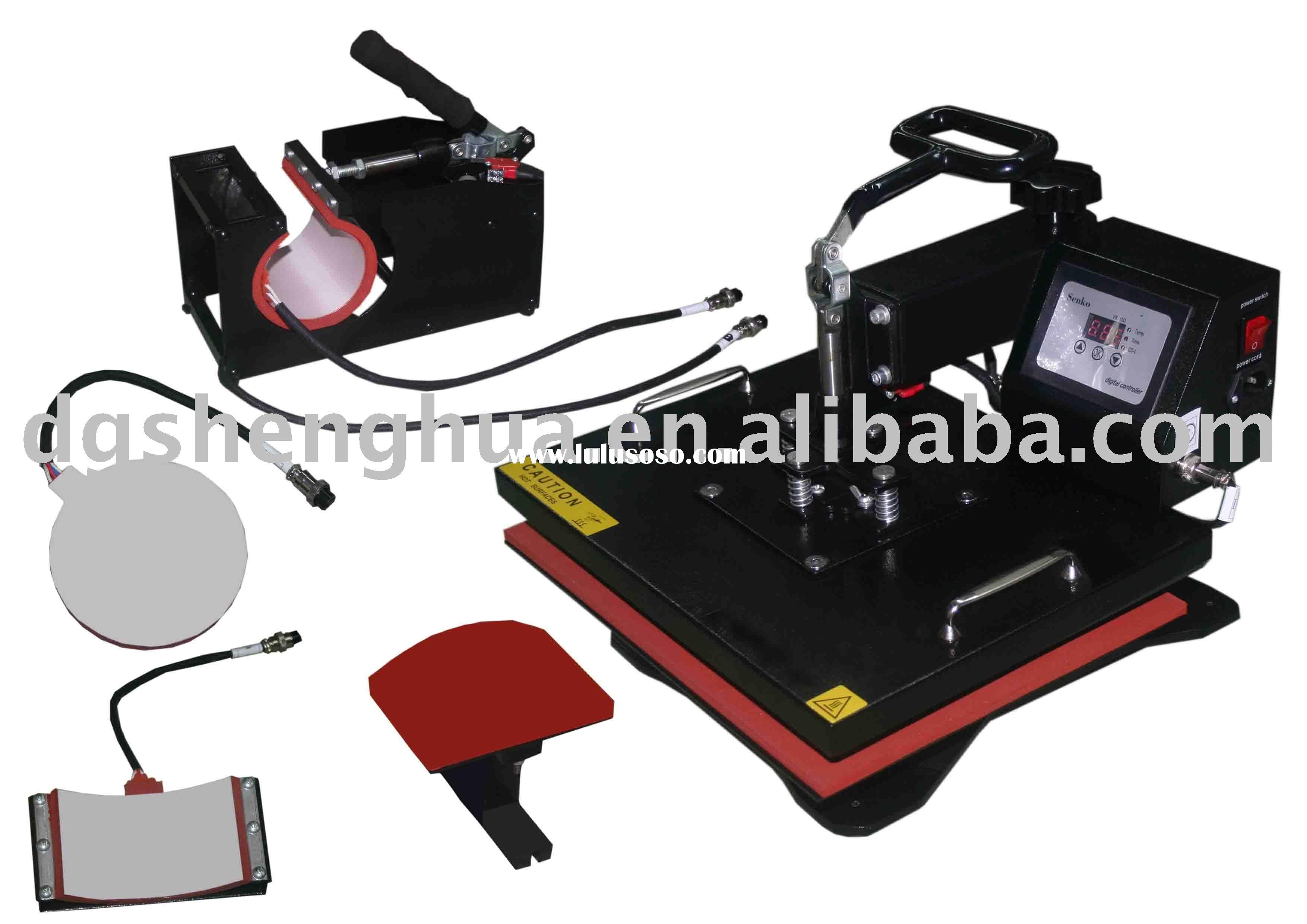 Combo 6 in 1 heat press machine,Multifunction heat transfer machine