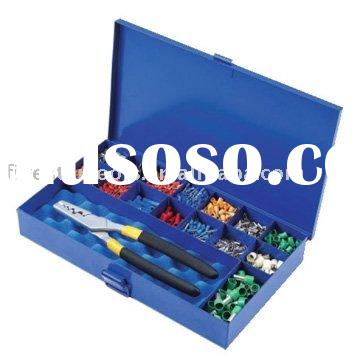 Crimping Tool Kits/Compination Crimping Tools in Blue Metal Box For cable end sleeves with different