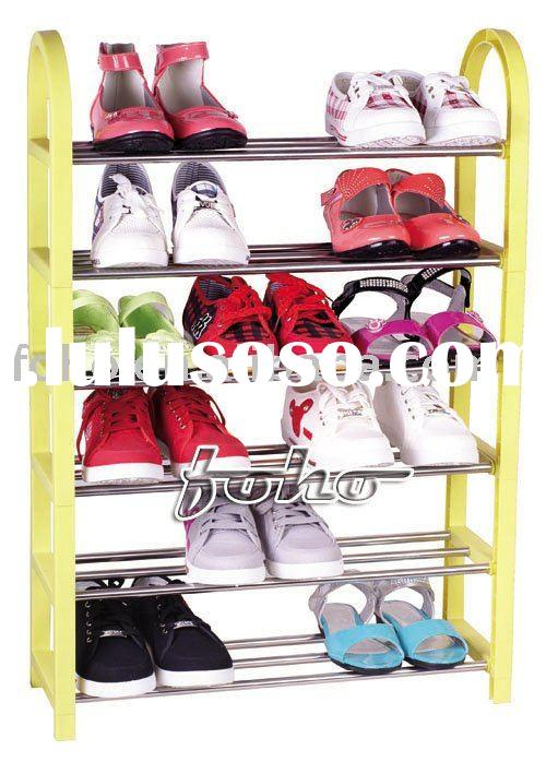 DIY colorful 6 layer palstic shoe rack