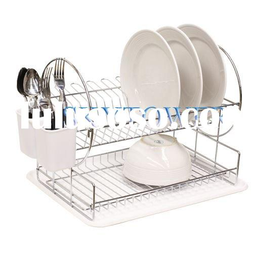 2 Tier Stainless Steel Dish Drainer 2 Tier Stainless