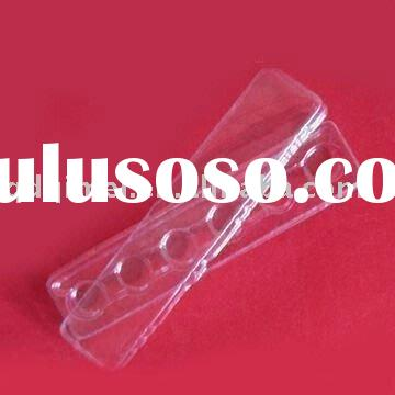 Disposable Clear PVC Thermometer Tape Stationery Pen Hang Binding Plastic Packing Cover Container