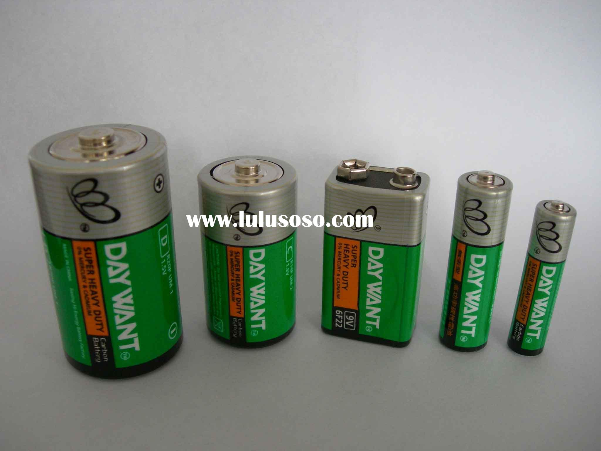 Dry Battery Green Series PVC Label primary battery