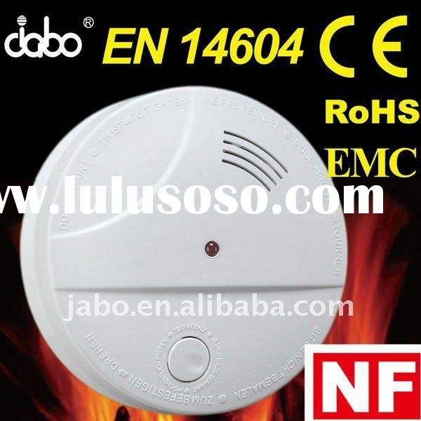 Electric Optical Smoke Detector with hush with 9V battery backup
