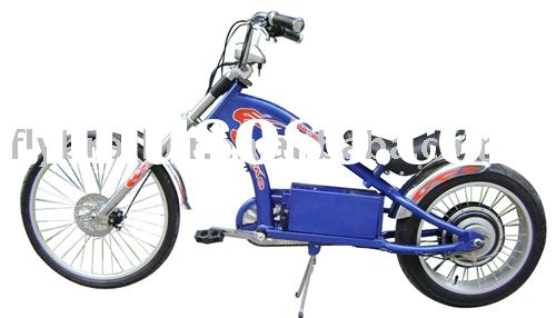 Electric chopper bike with battery and brushless motor