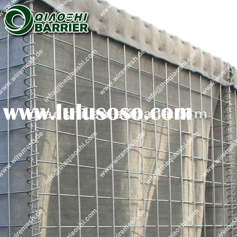 Electro Galvanized Hesco Concertainer Used For Flood Control In Philippines