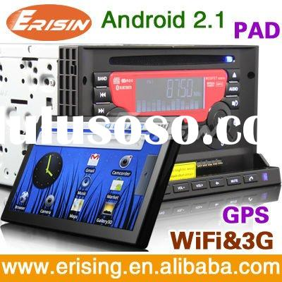 Erisin Anti-Theft Car Multimedia System with 3G WiFi GPS Android PAD and 7 inch DVD Player