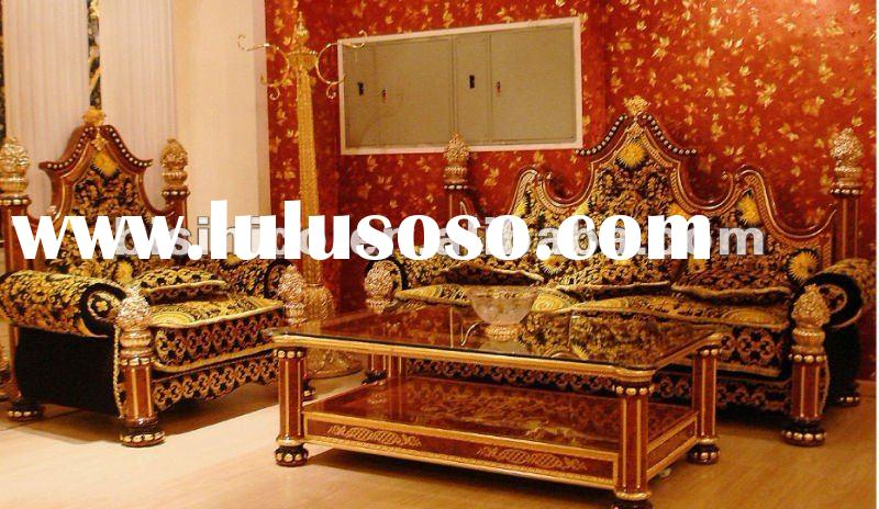 European luxury style gold plated living room sofa set,hand carved,24K gold plated,made of copper&am