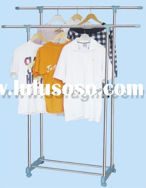 Extendable Double-Pole Clothes Rack Stand/Clothes Hanger Rack/Clothes Rack/Clothes Hanger/Drying Rac