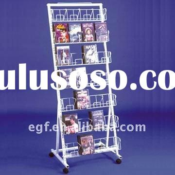 Floor Standing Metal CD DVD Display Holder Rack