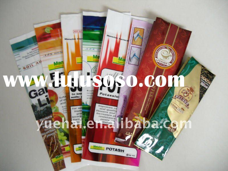 Foil laminated coffee bag with valve