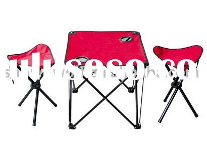 Folding beach chair&table set
