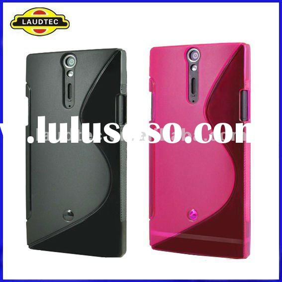 For Sony Xperia S LT26i, Soft Skin S-line Wave TPU Case, Gel Cover, New Arrival, Laudtec