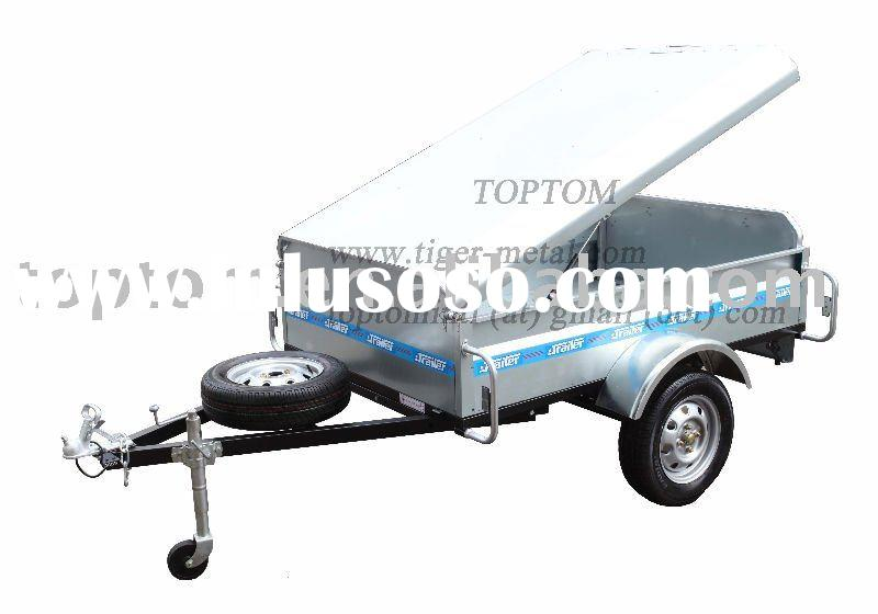 Galvanization ATV trailer with tipping box and cover