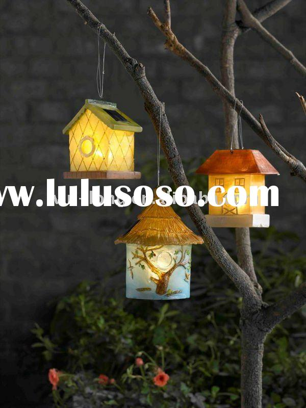 Garden Decorative Bird House with Solar Light - Set of 3