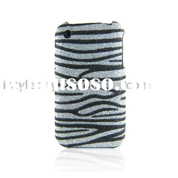 Glitter Back Cover Case for iPhone 3G/3GS (Black Zebra)