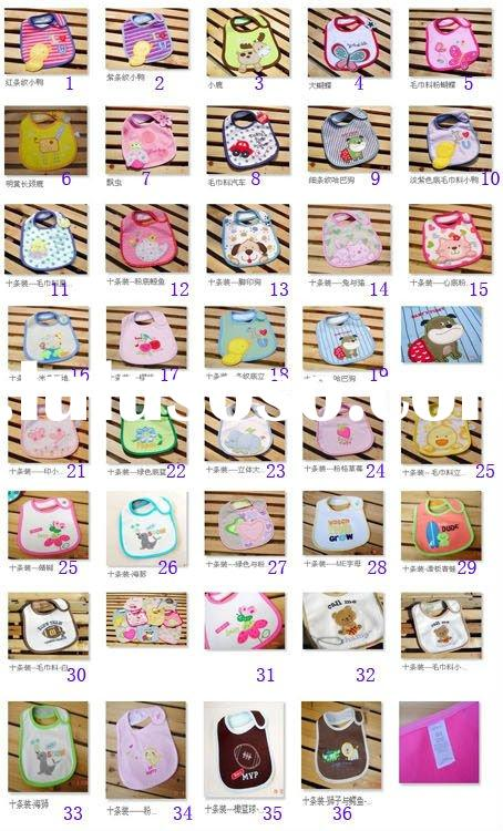 Good Price 100% Cotton Baby Bibs, Good Quality Baby Bibs, 3 Layers Anti-Water Baby Bibs