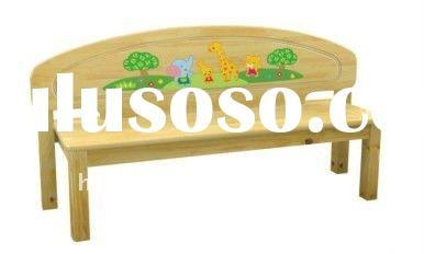 HJL-AG004 Kid's Wood Furniture /child wood long chair