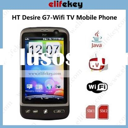 HT Desire G7 4.0 inch WIFI Dual sim cards TV HT mobile phone JAVA 2.0 Flip mute Gravity inducer