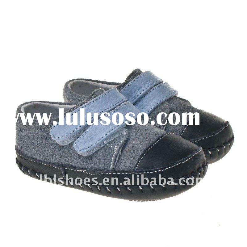 Hand-made genuine leather baby shoes Littlebluelamb BB-A27111-GR