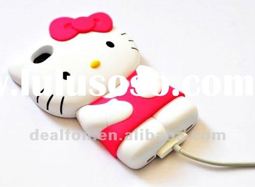 Hello Kitty 3D Design Plastic Hard Case For iPhone 4S