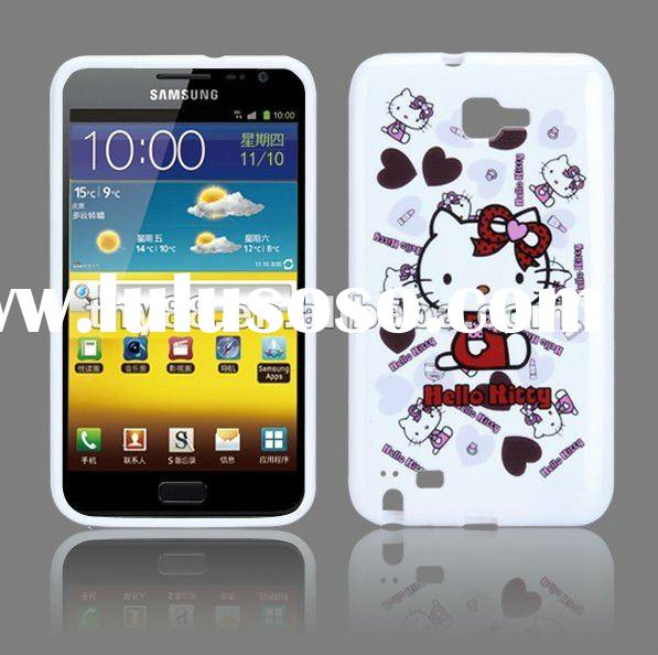 Hello Kitty Soft Silicone Case Cover for Samsung Galaxy Note i9220 - White