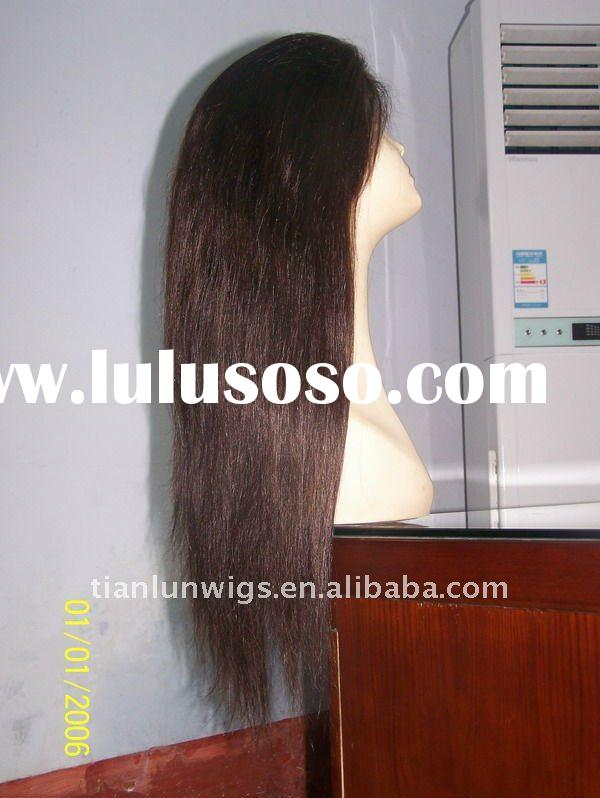 High quality and best selling 100% Indian remy human hair wigs long full lace wigs long hair