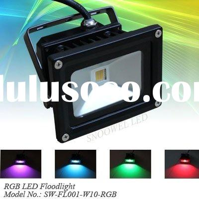 IP65 Color Changing 10W RGB led flood light