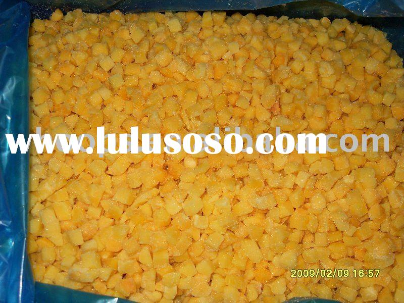IQF diced yellow peach