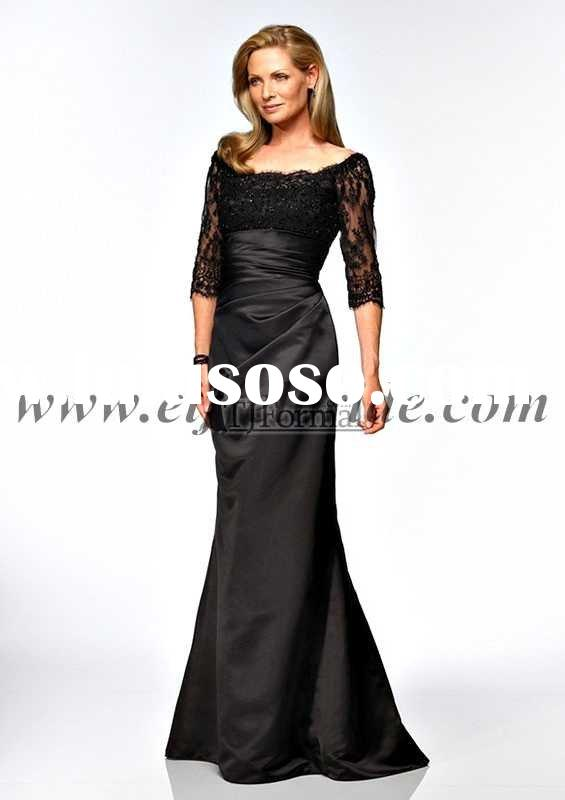 KE-0162 lace evening gown the hollow long-sleeved and embroidery evening dress