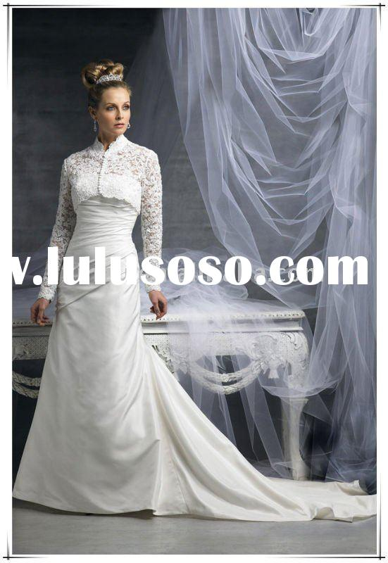 Knockout 2011 Long Sleeve Lace Wedding Dress T-1162