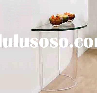 LY-1073 clear Acrylic Half Moon Console Table, acrylic furniture
