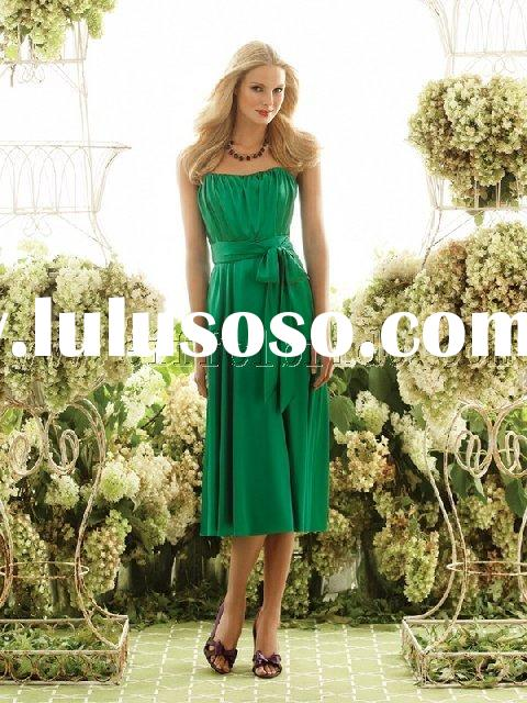 LY-20031051 light and dark green Bridesmaid Dresses\gown dress \fashion designer evening dress\