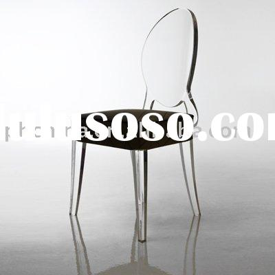 LY-6951 ghost lucite chair with soft cushion, acrylic furniture