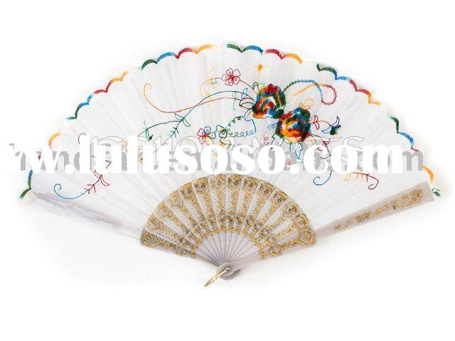 Lace Plastic Hand Fan