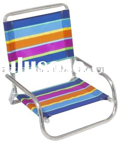 Low Folding Beach chair with armrest
