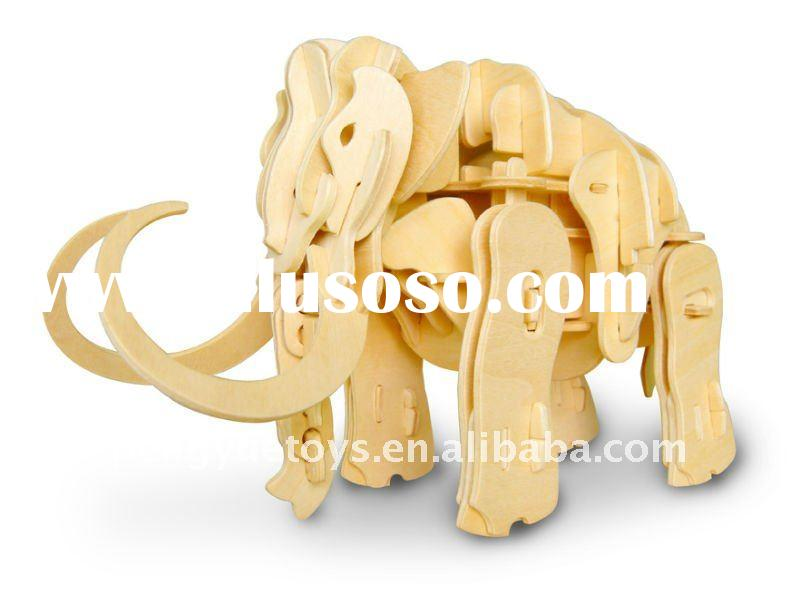 Mammoth(Mini Alive Wooden 3D Puzzle Dinosaur)