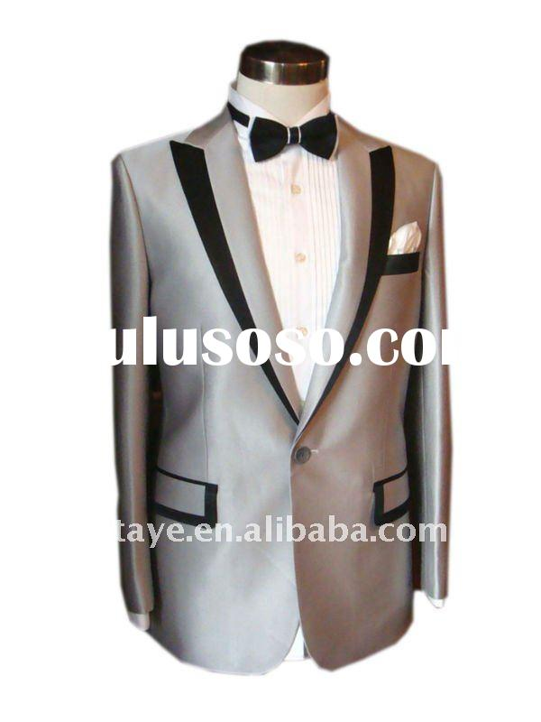 Men's T/R Tuxedo Suits with lapel piping