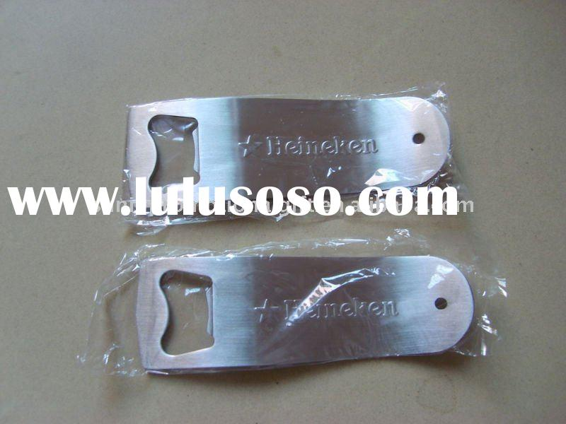 Metal beer bottle opener with keychain for beer promotion project