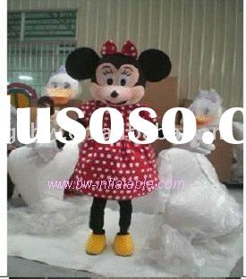 Minnie mouse costume/adult costume/fur costume