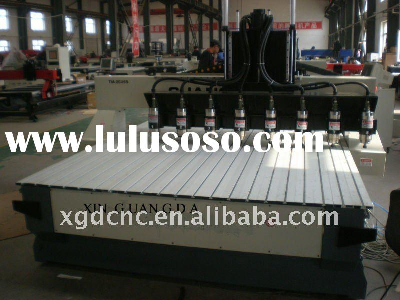 Multi-head wood cnc router machine with TM-2025S