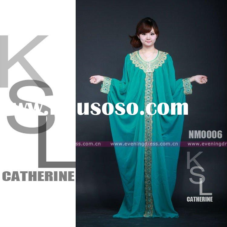 New Design Long Muslim Dress Style Fashion Hijab2012 NM0006