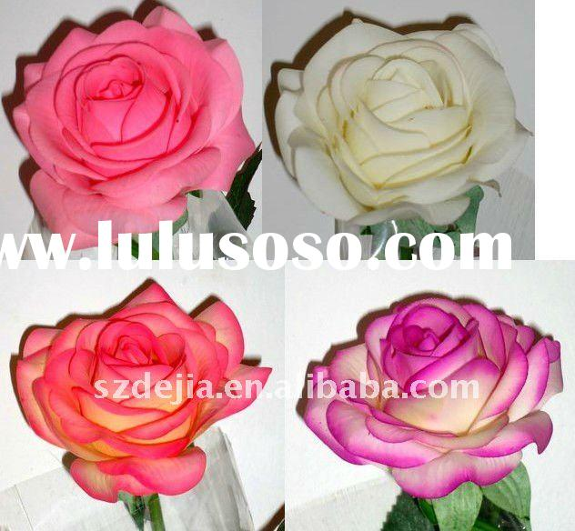 New Products Artificial Flower Head real touch rose flower head