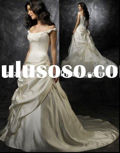 New lace applique puffy wedding dress bride gown bridal dress